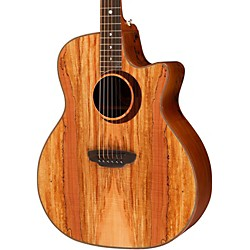 Luna Guitars Woodland Series Spalted Maple Acoustic-Electric Guitar (WL SPALT)