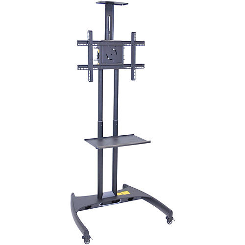 H. Wilson Luxor Adjustable Flat Panel Cart with Shelf and Camera Mount-thumbnail