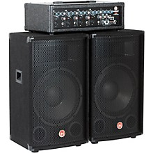 """Harbinger M120 120-Watt 4-Channel Compact Portable PA with 12"""" Speakers"""