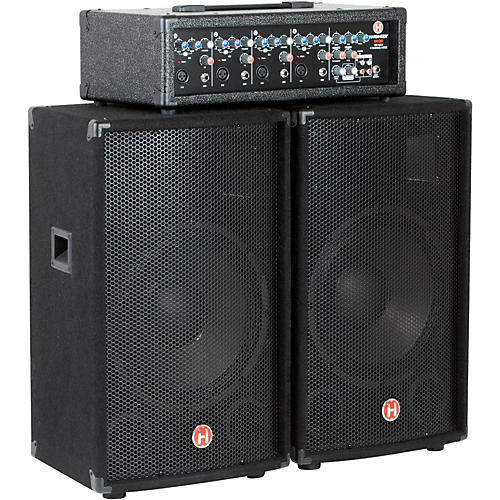 Harbinger M120 120-Watt 4-Channel Compact Portable PA with 12