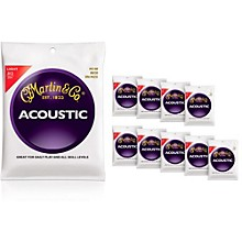 Martin M140 80/20 Bronze Light 10-Pack Acoustic Guitar Strings