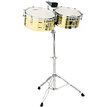 "LP M257B Matador Series 14"" and 15"" Brass Shell Timbales Set"