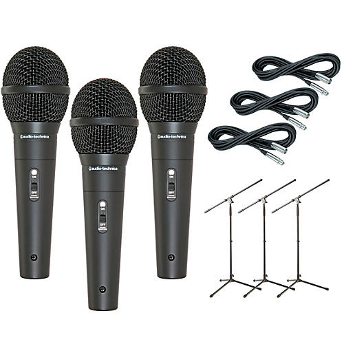 Audio-Technica M4000S 3-Pack Mic and Stand Kit-thumbnail