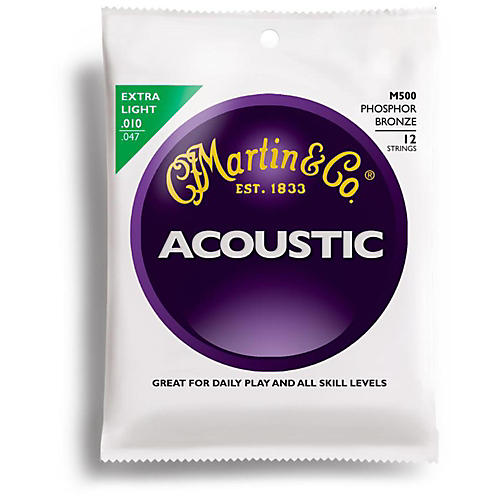 Martin M500 12-String Phosphor Bronze Extra Light Acoustic Guitar Strings-thumbnail