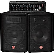 """Harbinger M60 60 Watt 4 Channel Compact Portable PA with 10"""" Speakers"""