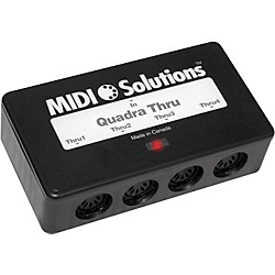 MIDI Solutions Quadra 4-Output MIDI Thru Box (QUADRA THRU)