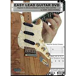 MJS Music Publications EASY LEAD GUITAR DVD: Beginner to Advanced Mastery of Guitar Solos and Fills (EZLG)