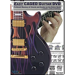 MJS Music Publications Easy CAGED Guitar DVD: Fretboard Mastery of Chords and Scales on the Entire Neck (EZCAGED)