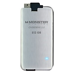 MONSTER Overdrive 3.0 SSD 512GB USB3.0, 250MB/s (USED004000 SSDOU-0512-A)