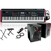Yamaha MOXF8 88-Key Weighted Synth with RPM3 Monitors, Stand, Headphones, Bench and Sustain Pedal