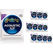 Martin MSP4050 SP Phosphor Bronze Custom Light 12-Pack Acoustic Guitar Strings