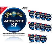 Martin MSP4100 SP Phosphor Bronze Light 12-Pack Acoustic Guitar Strings