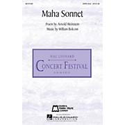 Edward B. Marks Music Company Maha Sonnet SATB Divisi composed by William Bolcom