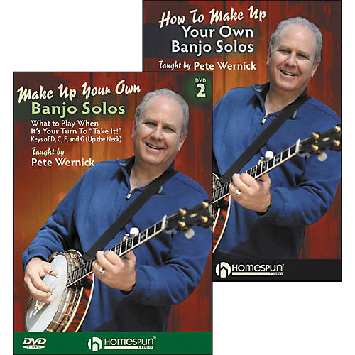 Homespun Make Up Your Own Banjo Solos DVD's (1 & 2) By Pete Wernick-thumbnail