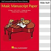 """Hal Leonard Manuscript Paper 8 1/2"""" x 8 1/2"""" Wide Staff"""