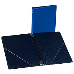Marlo Plastics Choral Folder 7-3/4 x 11 With 7 Elastic Stays and 2 Clear, Flat, Diagonal Internal Pockets (119347)