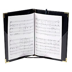 Marlo Plastics Premium Choral Folder 7-3/4 x 11 Octavo Size with Elastic String Holders - Black (750665)