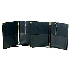 Marlo Plastics Premium Concert Choral Folder 9-1/4 x 12 with 3-ring binder - Black (750667)