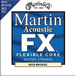 Martin FX650 80/20 Bronze Acoustic Medium Guitar Strings (41MFX650)