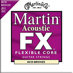 Martin FX675 Custom Light 80/20 Bronze Acoustic Guitar Strings (41MFX675)