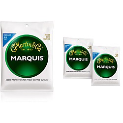 Martin M1200 Marquis 80/20 Bronze Medium Acoustic Guitar Strings - 3 Pack (KIT - M1200)