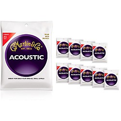 Martin M140 Light Acoustic Guitar Strings 10-Pack (KIT772458)