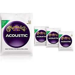 Martin M170 80/20 Bronze Round Wound Extra Light Acoustic Guitar Strings - 4 Pack (41M170KIT)
