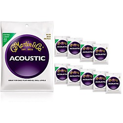 Martin M170 80/20 Bronze Round Wound Extra Light Acoustic Strings 10-Pack (KIT772457)