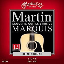 Martin M1700 Marquis 12-String 80/20 Bronze Light Acoustic Guitar Strings (41M1700)