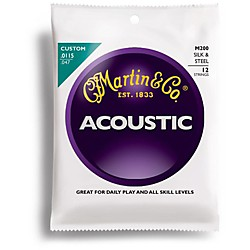 Martin M200 12-String Acoustic Folk Guitar Silk and Steel Round Wound Strings (41M200)