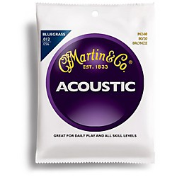 Martin M240 80/20 Bronze Round Wound Bluegrass Medium Light Acoustic Guitar Strings (41M240)