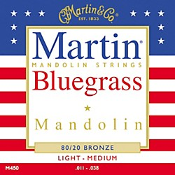 Martin M450 80/20 Bronze Bluegrass Acoustic Mandolin Strings (41M450)