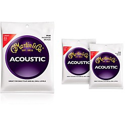 Martin M540 Phosphor Bronze Light Acoustic Guitar Strings - 3 Pack (KIT - M540)