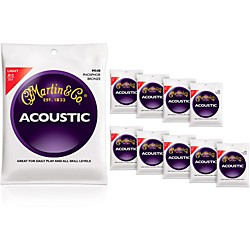 Martin M540 Phosphor Bronze Light Acoustic Strings 10-Pack (KIT772460)