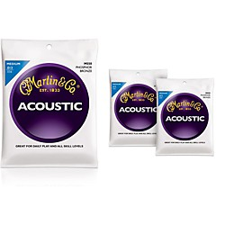 Martin M550 Medium Phosphor Bronze Acoustic Guitar Strings - 3 Pack (KIT - M550)