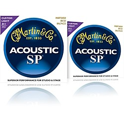 Martin MSP3050 SP 80/20 Bronze Custom Light Acoustic Guitar Strings 2 Pack (MSP3050-2PK)