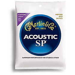Martin MSP3050 SP 80/20 Bronze Custom Light Acoustic Guitar Strings (41MSP3050)