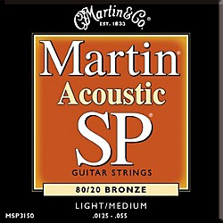 Martin MSP3150 SP Bronze Light/Medium Acoustic Guitar Strings (41MSP3150)