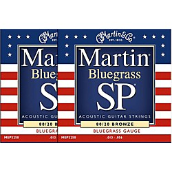 Martin MSP3250 SP Bronze Bluegrass Medium Acoustic Guitar Strings (2 Pack) (MSP3250-2PK)