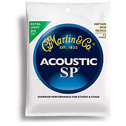 Martin MSP3600 Studio Performance 12-String Bronze Wound Extra Light Acoustic Guitar Strings (41MSP3600)