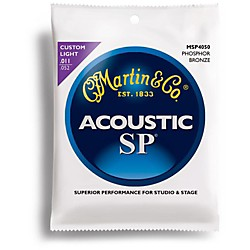 Martin MSP4050 SP Phosphor Bronze Custom Light Acoustic Guitar Strings (41MSP4050)