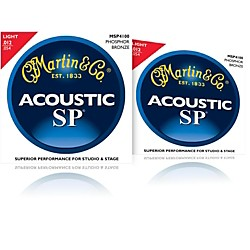 Martin MSP4100 Phosphor Bronze Light Acoustic Strings (2 Pack) (MSP4100-2PK)