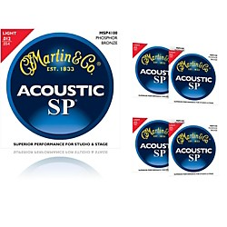 Martin MSP4100 Phosphor Bronze Light Acoustic Strings (5-Pack) (MSP4100-5PK)