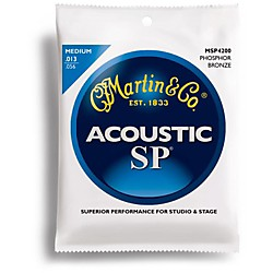 Martin MSP4200 Phosphor Bronze Medium Acoustic Guitar Strings (41MSP4200)
