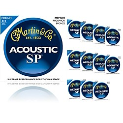 Martin MSP4200 Phosphor Bronze Medium Acoustic Strings (12 Pack) (MSP4200-12BF2012)