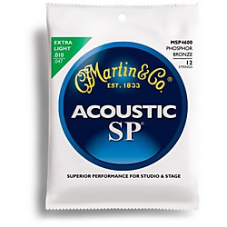 Martin MSP4600 Phosphor Bronze Extra Light 12-String Acoustic Guitar Strings (41MSP4600)