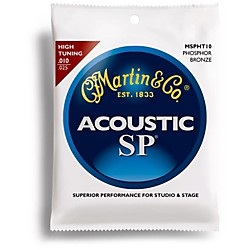 Martin MSPHT10 High Tuning Phosphor Bronze Acoustic Guitar Strings (41MSPHT10)