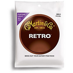 Martin Retro Series Custom Light Acoustic Guitar Strings (41MM11)