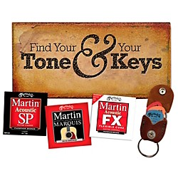 Martin Variety String Pack With Keychain/Pick Holder (3 Sets) (41MSPPACK0018)