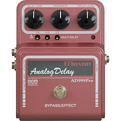 Maxon AD999 Pro Analog Delay Guitar Effects Pedal (AD999 PRO)